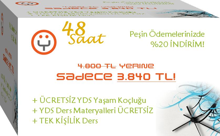 48 Saatte YDS İngilizce Özel Ders Paketi